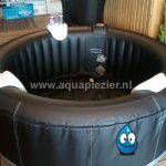Opblaasbare spa bubbelbad 141 zwart Luxe 4 persoons